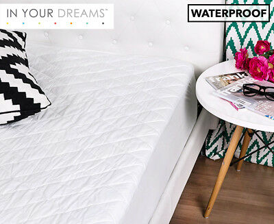 Waterproof Single Quilted Mattress Protector - White