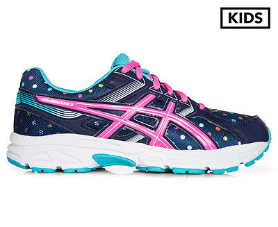 ASICS Grade School Girls' GEL-Contend 3 GS Shoe - Indigo Blue/Pink Glow/Aquarium