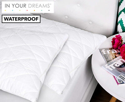Waterproof Quilted Pillow Protector - White
