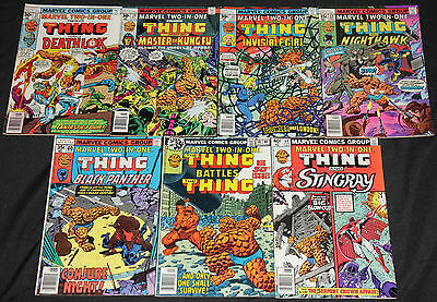 Marvel Bronze Age MARVEL TWO-IN-ONE 13pc Count Mid Grade Comic Lot FN-VF Thing