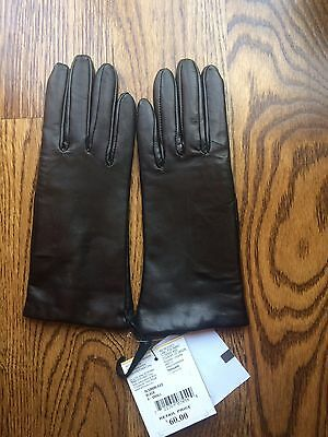 NEW Women's Winter Black Soft Leather Gloves - size XS