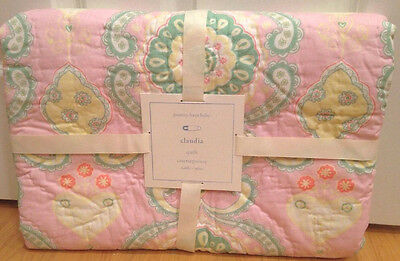 New Pottery Barn Kids Claudia Medallion Pink Moroccan Nursery Quilt Toddler