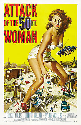 """Attack of the 50 Ft. Woman Movie Poster 1956 - 17"""" x 22"""" Fine Art Print - 00226"""