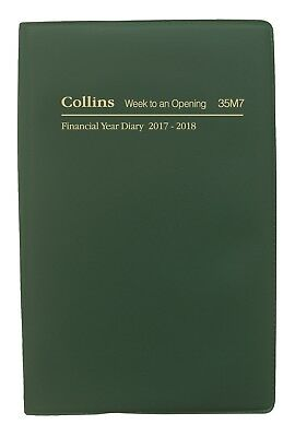 Diary Collins Pocket B7R 2017/2018 Financial Year Week To Open Green