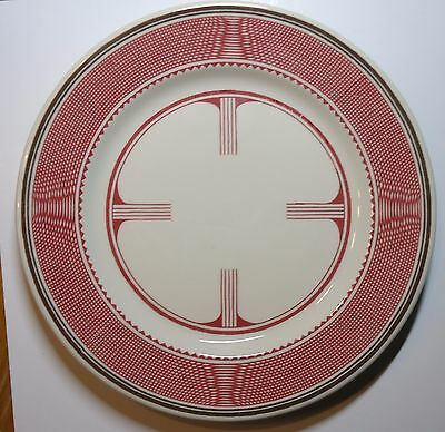 "Santa Fe Railway Mimbreno Pattern Dinner Plate  -  9-3/4"" diameter - Old Ivory"