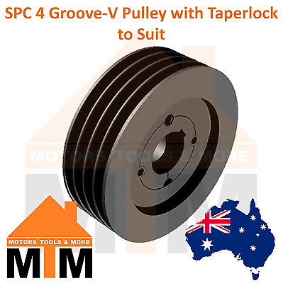 SPC C-section 4 Groove V Belt Pulley w/ taper lock to suit
