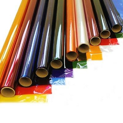 50cm Wide Coloured Cellophane Film Roll Ideal For Crafts Gifts Florist Wrap 4.5m