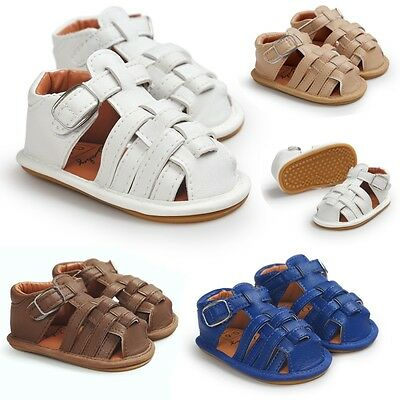 Zapatos de bebé Boy Girl Soft Sole Crib Shoes Toddler Summer Sandal Shoes 0-18M