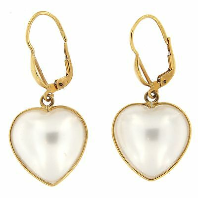 Jewelery MOTHER OF PEARL HEART SHAPE EARRING