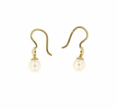 Jewelery PEARL AND ZRICONIUM YELLOW GOLD CLASSIC EARRING