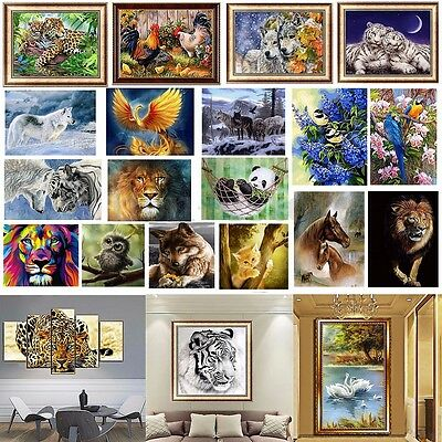AU DIY 5D Diamond Painting Paints Craft Embroider Cross Stitch Home Wall Decor