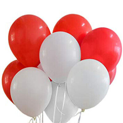 """Pack of 100 Quality 10"""" Heart Shaped Latex Party Balloons i love you balloons"""