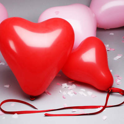 """Pack of 100 Quality 10"""" Heart Shaped Latex Party Balloons & i love you balloons"""