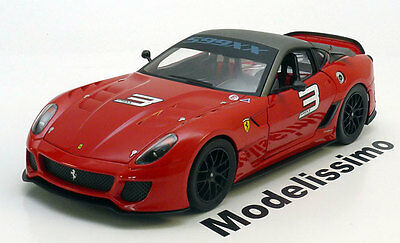 1:18 Hot Wheels Ferrari 599 XX #3 2010 red/carbon