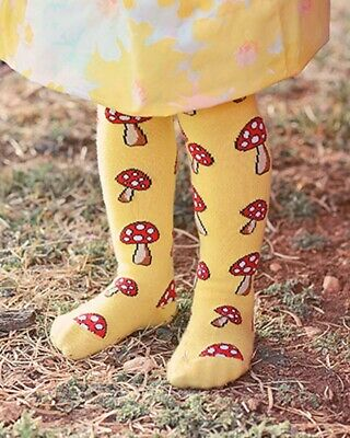 Fun Guy Leggings Mushroom Cartoon Yellow Cute Different Alternative Cotton Cool