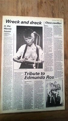 WENDY O WILLIAMS/ PLASMATICS  concert review 1981 UK ARTICLE / clipping