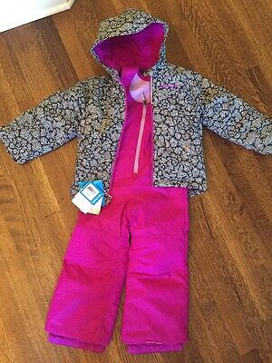 494d7eb28 NEW $140 XS Youth Columbia Frosty Slope Set Winter Coat Bib Pant Snow Girl