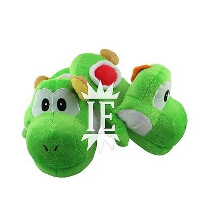 SUPER MARIO CIABATTE YOSHI VERDE pantofole green slippers new bros peluche wolly