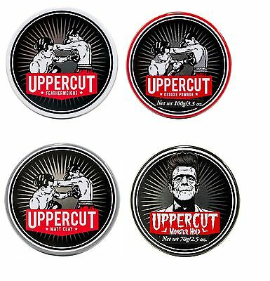 Uppercut Deluxe Pomade Featherweight Matt Clay Pomade Monster Hold Men Hair Care