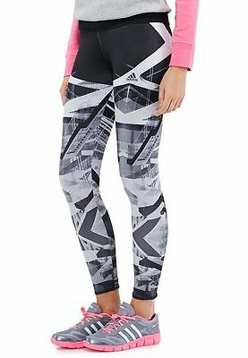 Adidas Women's Performance Studio Climalite Printed Tights Gym/Running Large