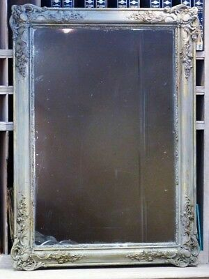 19th century French mirror mercury glass - French antique gray mirror