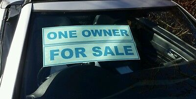 10 x Car/Vehicle For Sale Signs/Stickers Self Cling, Reusable, Assorted Wordings