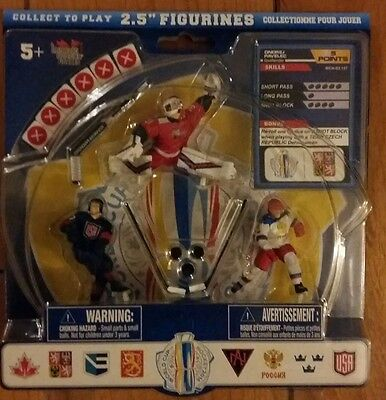 2016 World Cup of Hockey NHL 2.5' Figure Starter 3 Pack Pavelec Ekblad Ovechkin