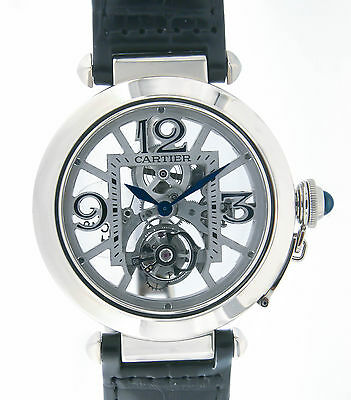 Cartier PASHA FLYING TOURBILLON SKELETON W3030021 WHITE GOLD, 42MM W3030021