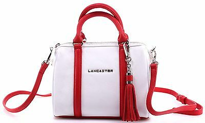 b72343326a Sacs Femmes LANCASTER Paris Blanc Rouge Cuir Vachette Made In France  Nouveau New