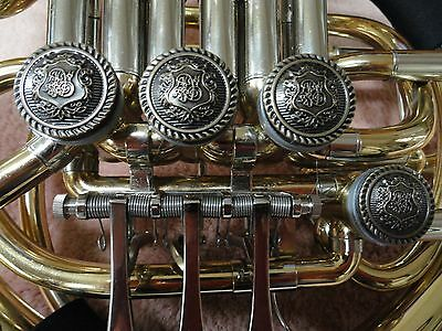 Double French Horn Antique Bronze  Rotor Caps And Tone Boosters, 4 Pc. Set