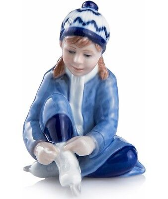 Royal Copenhagen 2016 Annual Figurine Girl w/Ice Skates NIB 1249853 NEW IN BOX