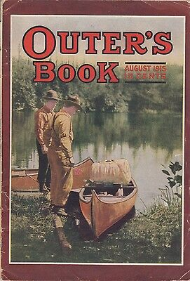 August 1915 Outer's Book Magazine American Bison Deer Hunting Fishing Bass Trout