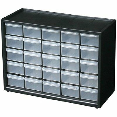 Parts Storage Drawer Hardware Craft Cabinet 25 Drawers Organize Small Tool Hobby