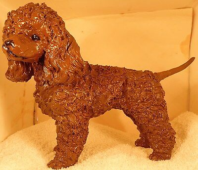 Dog Figurine IRISH WATER SPANIEL Standing GREAT BREED FIGURE-ONE OF A KIND-LARGE