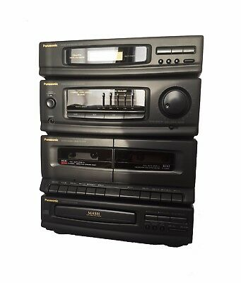 Panasonic SA-DH30 AM/FM Stereo-Dual-Cassette-CD-Compact-Component-System