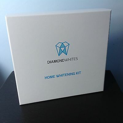 FREE £6 LED Light - DIAMOND WHITES HOME TEETH WHITENING KIT gel trays strips