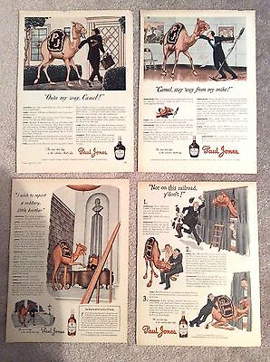 Paul Jones Whiskey Magazine Ad - 1940s Camel Series - Group of 4 Ads