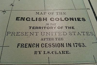 "ENGLAND COLONIES Map 1895 Antique Vintage Original Encyc Brit 15""x10.5"" MAPZ133"