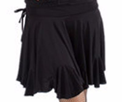 SGS45BK New Black Ballroom Latin Rhythm Salsa Swing Club Dance Skirt With Trunk