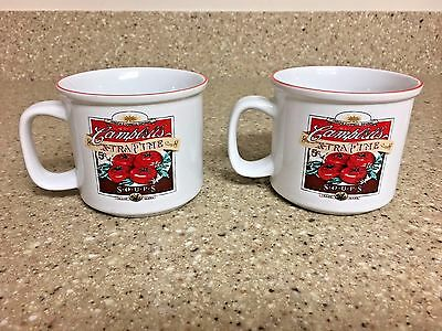 Campbell's Heritage Collection Set of 2 Vintage Label Ceramic Mugs ~ 2004 ~ EUC
