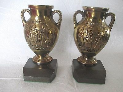 Classic Bookends: Copy Of 5Th Century Bc Greek Urns - Brass / Cast Iron