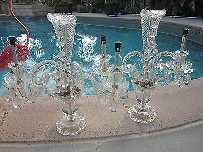Pr Antique Chech Crystal Banquet Prince Table Chandelier/Girandole/Lamps 17x17