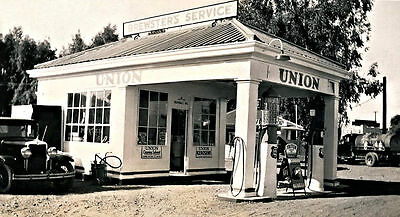 "5""x7"" UNION  76 BREWSTERS SERVICE GAS STATION TRITON OILS 30's"