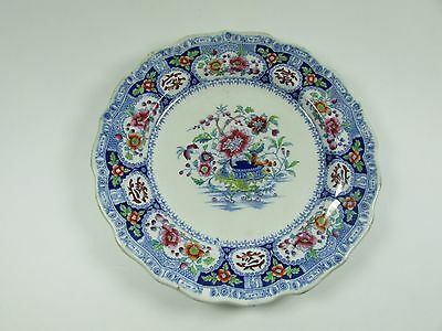 Alcock's Indian Ironstone hand painted plate c.1830-59