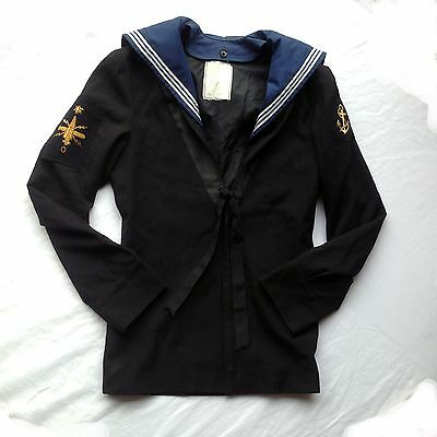 British Royal Navy Class 2 II Sailors Middy Jumper Top Gold Emblem RN 182/92/76