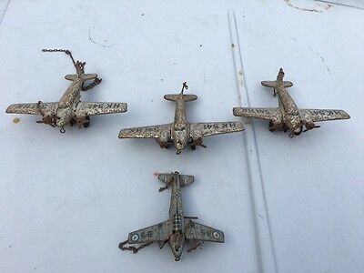 4 x sehr alte Flugzeug Modelle  Made in Western Germany, made in US Zone Germany