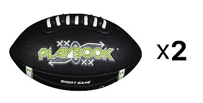 Franklin Sports Playbook Routes Jr. Youth Mini Football With Foam Cover (2-Pack)