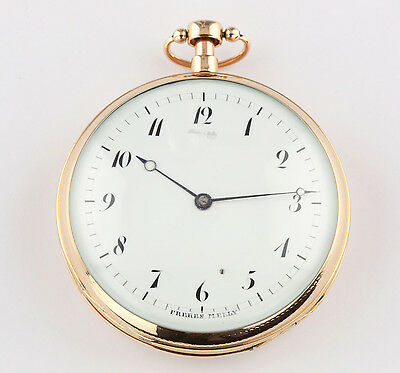 Freres Melly à Paris174g 18k Gold 8 Day ¼ Repeater Pocket watch taschenuhr