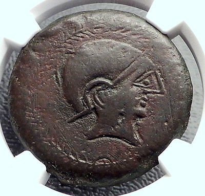 CARMO in SPAIN 200BC AE34 Large Authentic Ancient Greek Coin NGC Ch VF i60396
