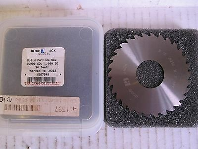 "RobbJack Slitting/Slotting Saw Blade 3 x 0.0312 x 1"" 30 Teeth NEW"